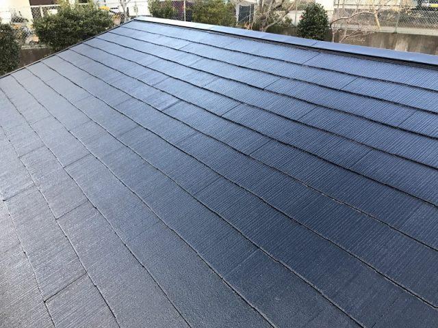 越谷市のA様邸|屋根の塗装工事