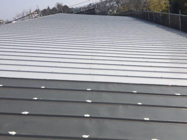 さいたま市岩槻区の株式会社T様の倉庫 屋根の塗装工事