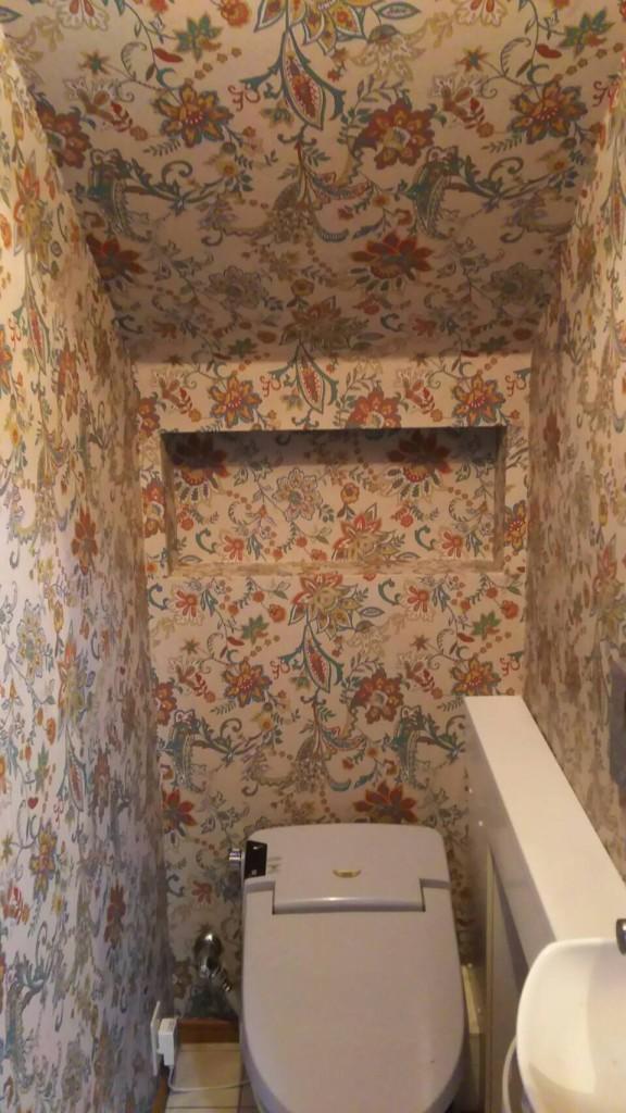 さいたま市浦和区のH様邸 トイレの内装リフォーム工事(クロスの張り替え)