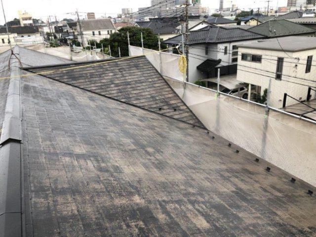 屋根の塗装工事 埼玉県さいたま市岩槻区の木造アパートにて外装リフォーム